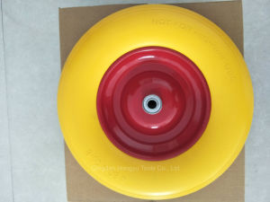 Good Quality Hand Trolley PU Foam Wheel pictures & photos