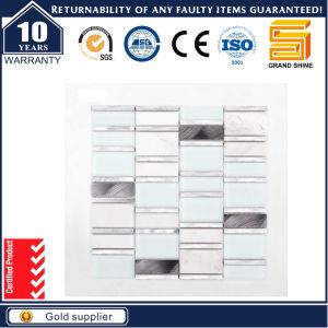 Strip Grey Tone Crystal Glass Mix Aluminum Mosaic pictures & photos