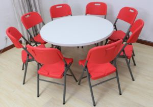 HDPE Plastic Folding Home Dining Table pictures & photos
