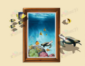 custom size printing 3D wall paper vinyl self-adhesive sticker pictures & photos