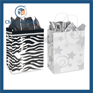 White Paper Black Printing Handle Paper Bag (DM-GPBB-148) pictures & photos