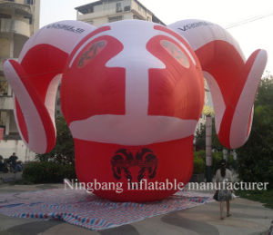 Popular Cartoon Inflatable Goat Head Cartoon Inflatable Animal for Advertising pictures & photos