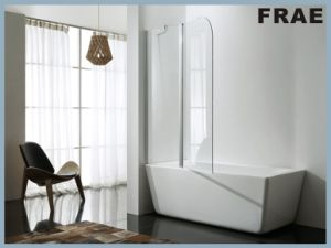 Simlpe Bath Tub Screen with Transparent Glass pictures & photos