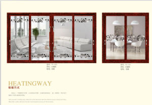 Aluminium Frame Vertical Pivot Window with Tempered Glass pictures & photos