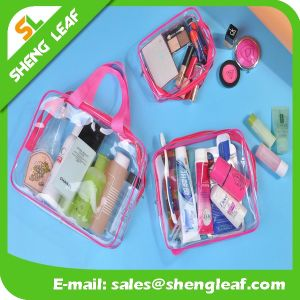 Promotional PVC Cosmetic Bag Transparent PVC Zipper Toiletry Bag pictures & photos