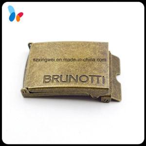 Custom Auto Lock Antique Bronze Belt Buckle for Leather Strap pictures & photos