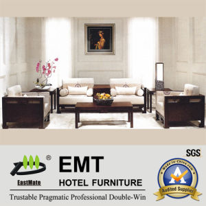 Noble Elegant Style Wooden Hotel Furniture Sofa Set (EMT-SF08) pictures & photos