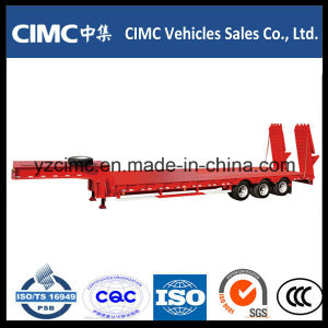 Cimc Low Bed Trailer with Hydraulic Ladder pictures & photos