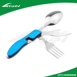 Multi-Function Stainless Steel Spork with Anodized Aluminum pictures & photos
