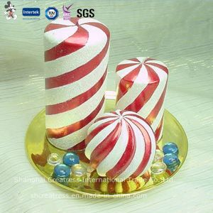 Best-Selling Red and White Spiral Christmas Candle pictures & photos