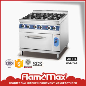 Freestanding 6-Burner Gas Range with Electric Oven for Catering Equipment (HGR-76E) pictures & photos