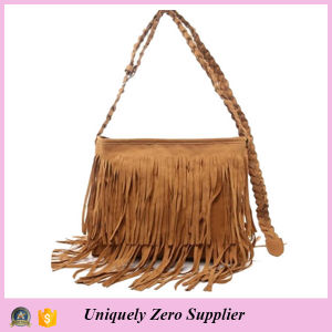 Fashion Women Tassel Shoulder Messenger Handbag (54076-1) pictures & photos
