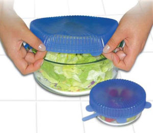 FDA Approved Stretch Silicone Lid to Keep Food Fresh pictures & photos