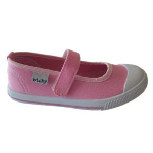 New Popular Wholesale Kids Canvas Shoes with Plain Pink Upper pictures & photos