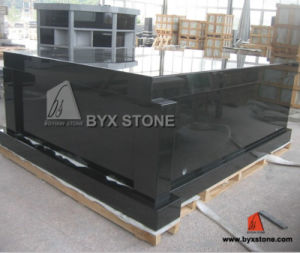 Absolute Black Granite Stone Tombstone Mausoleum for Cemetery pictures & photos