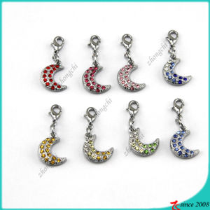 Silver Moon Pendant Charms for Necklace Jewelry (SPE)