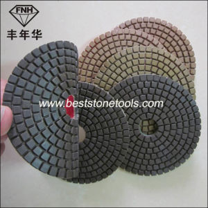 Hook & Loop Diamond Flexible Resin Wet Dry Polishing Pad for Concrete pictures & photos