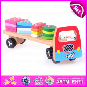 2015 Creative Kids Wooden Block Car Toy, Hot Sale DIY Educational Moving Car Toy, Multi-Functional Wooden Block Car Toy W04A160 pictures & photos