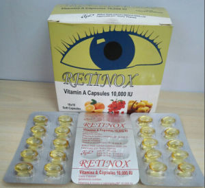 Nutritional Supplement, Vitamin a Soft Capsules 10, 000iu, Vitamin a pictures & photos