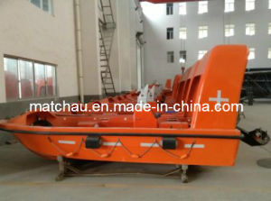 Marine Open Type FRP Rescue Boat with Davit pictures & photos