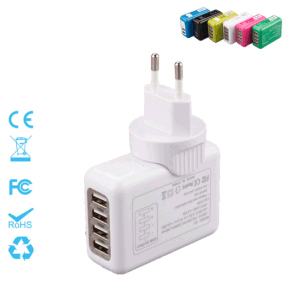 Four Ports 5.4A Interchangeable Travel Plug Charger pictures & photos