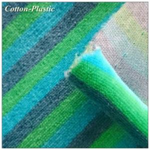 Multi Color Stripe Velvet Fabric for Toy Making