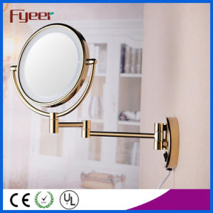 Fyeer Ultra Thin Foldable Golden LED Makeup Mirror (M1208GTF) pictures & photos