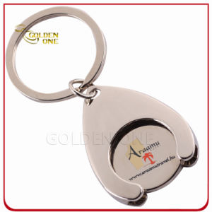 Personalized Printed Metal Trolley Coin Holder Key Chain pictures & photos
