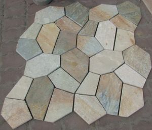 Outdoor Irregular Flagstone Paving Slate Paver with Mesh pictures & photos
