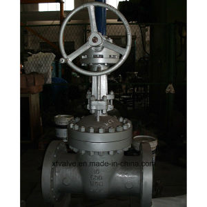 150lb 300lb 600lb Cast Steel Bevel Gear Operation Gate Valve pictures & photos