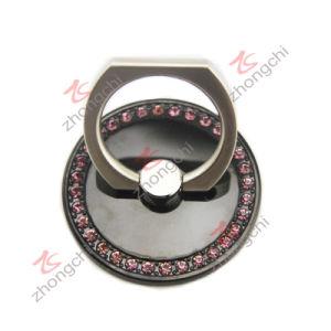 Black Metal Reuseable Finger Ring Car Mount Phone Holder (pH)