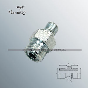 White Galvanized Export Quality Hydraulic Hose Fitting pictures & photos