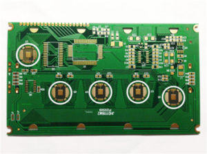Double-Side LCD PCB with Gold Plating