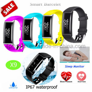 Wristband Digital/Smart Bracelet with Heart Rate and Blood Pressure Monitor X9 pictures & photos