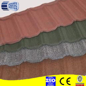 Metal color stone coated roof tile/stone coated metal roof tile pictures & photos