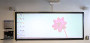 150 Inches Infrared Interactive Whiteboard Single Projector Full Screen Touching pictures & photos