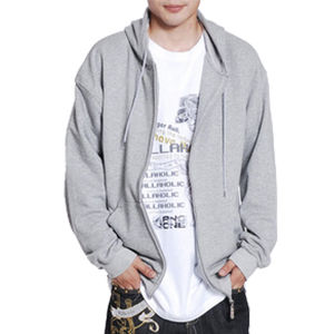 Custom Cotton Polyester Men′s Zipper-up Hoodies pictures & photos