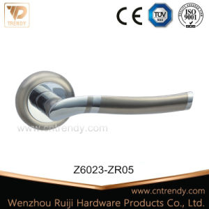 Zinc Alloy Door Furniture Latch Handle with Satin-Nickle Color (Z6011-ZR05) pictures & photos