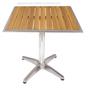 Leisure Outdoor Teak Wood Table with Aluminum Base (SP-AT332) pictures & photos