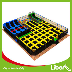 Unique Kid Trampoline Park Free Jump Area with Dodgeball Area pictures & photos