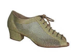Women′s Golden Open Toes Tango Practice Shoes pictures & photos