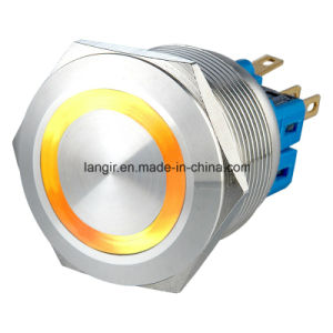 25mm Waterproof Momentary 1no1nc Illuminated Reset Stainless Steel Switch (6V 12V 24V 36V 110V 230V) pictures & photos