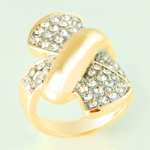 Gold Plating Butterfly Design for Fashion Jewelry Ring (A04761R1S)