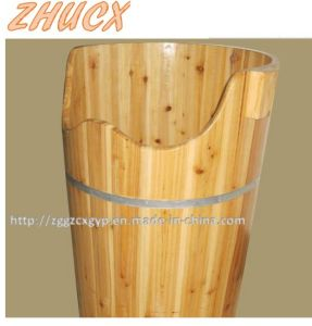 Round Wooden Foot Tub Foot Bath Barrel Wooden Barrel pictures & photos