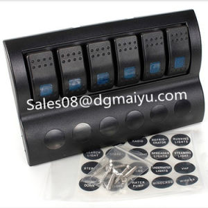 6 Gang Marine Rocker Switch Panel with LED pictures & photos