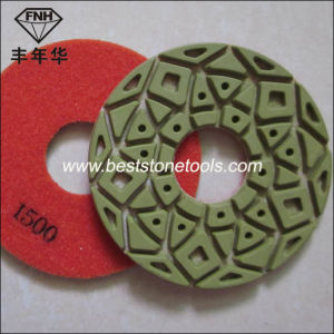 "Cr-23 Dry Diamond Floor Polishing Pad for Concrete (5""/125mm) pictures & photos"