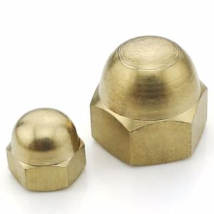Brass Hex Acorn Nut, Brass Domed Head Cap Nut pictures & photos