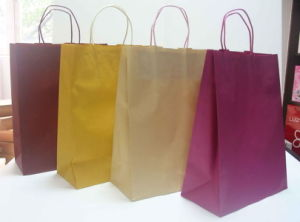 Craft Paper Shopping Bags with Custom Logo pictures & photos