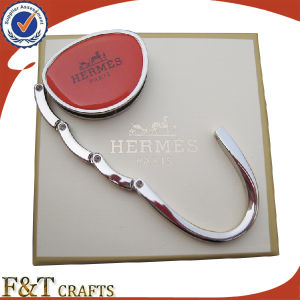 Custom High Quanlity Blank Silver Metal Purse Hook Table Bag Hanger for Sales pictures & photos