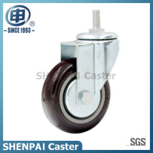 "5"" Nylon Fixed Industrial Caster Wheel pictures & photos"